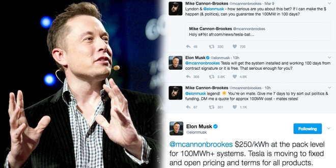 Elon Musk takes to twitter to get the SA government's attention.