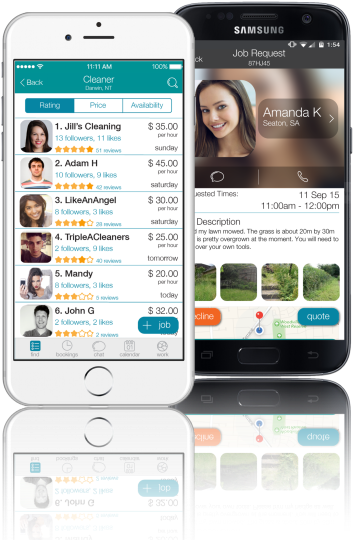 CanYa is available on iOS and Android, it is the easiest way to hire local service providers near you
