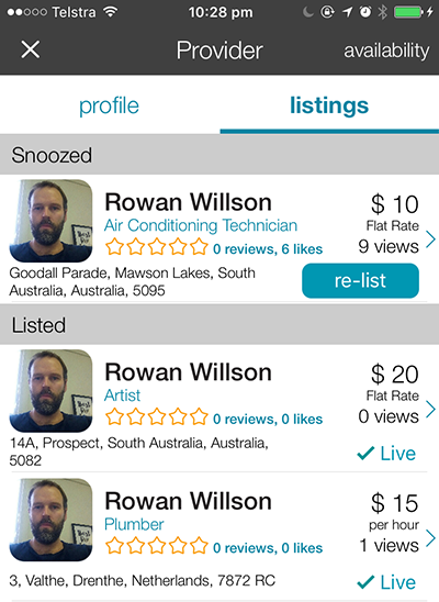 Creating a provider profile with CanYa is free