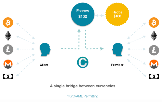 CanYa will bridge the gap between the crypto community and the general public. The escrow account will be hedged to ensure you get the a value for money