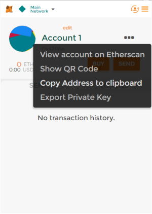 Copy address clipboard metamask