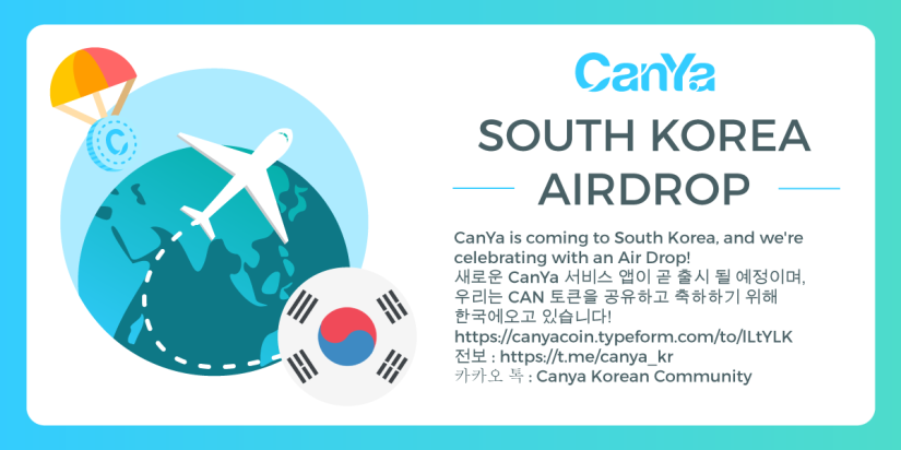 CanYa is Coming to South Korea and We're Celebrating by Giving Away 1000 CAN Tokens!