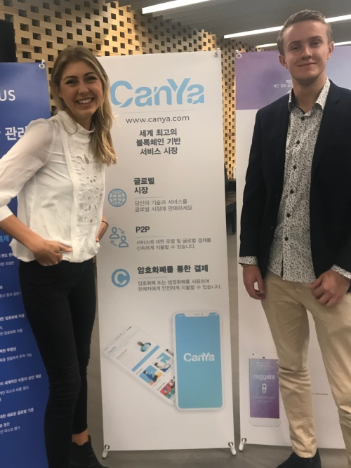 CanYaCoin on display in South Korea
