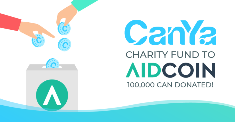 CanYa Awards AidCoin 100,000CAN as Inaugural Charity Vote Winners.